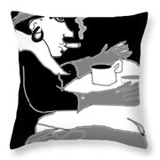 Frau Und Hund Throw Pillow