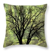 Freaky Tree 2 Throw Pillow