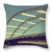 Freddie Sue Bridge Throw Pillow by Kristen Cavanaugh