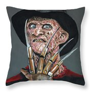 Freddy Kruger Throw Pillow