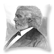 Frederick Douglass (c1817-1895). American Abolitionist. Wood Engraving, American, 1877 Throw Pillow