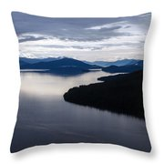 Frederick Sound Morning Throw Pillow by Mike Reid