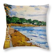 Frederiksted By The Pier Throw Pillow