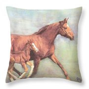 Free And Fleet As The Wind Throw Pillow