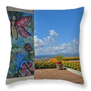Free - The Berlin Wall Throw Pillow