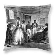 Freedmen School, 1866 Throw Pillow by Granger
