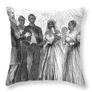 Freedmen: Wedding, 1866 Throw Pillow by Granger