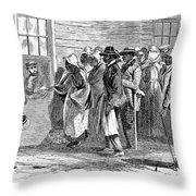 Freedmens Bureau, 1866 Throw Pillow