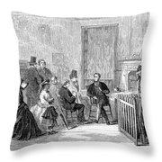 Freedmens Bureau, 1867 Throw Pillow