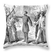 Freedmens Bureau, 1868 Throw Pillow