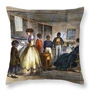Freedmens School Throw Pillow