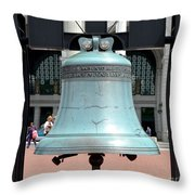 Freedom Bell Throw Pillow