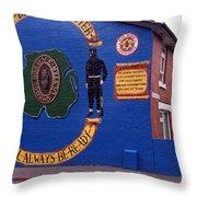 Freedom Corner Mural Belfast Northern Ireland Throw Pillow