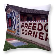 Freedom Corner Mural Throw Pillow
