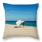 Freedom From Sand Throw Pillow