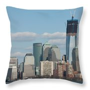 Freedom Tower And Manhattan Skyline II Throw Pillow