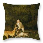 Freeman - The Earl Of Clarendon's Gamekeeper Throw Pillow