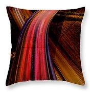 Freeway Lights 1 Throw Pillow