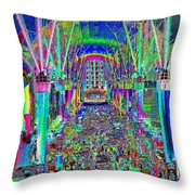 Fremont Street Experience Nevada Throw Pillow
