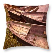 French Antiques Throw Pillow by Debra and Dave Vanderlaan