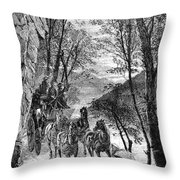 French Broad River, C1873 Throw Pillow
