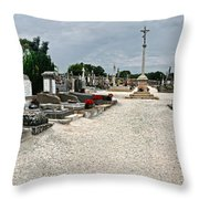 French Cemetery  Throw Pillow