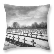 French Cemetery Throw Pillow by Simon Marsden