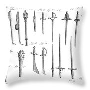 French Chivalric Weapons Throw Pillow by Granger