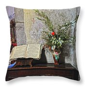French Church Decorations Throw Pillow