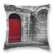 French Church Exterior Throw Pillow