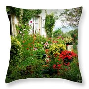 French Cottage Garden Throw Pillow