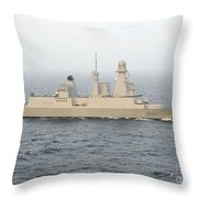French Destroyer Fs Forbin Throw Pillow