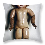 French Doll, 1885 Throw Pillow