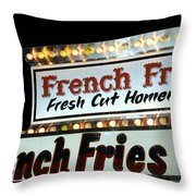 French Fries Sign Throw Pillow