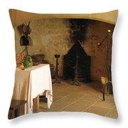 French Kitchen In Castelnaud Throw Pillow