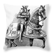 French Knight, 16th Century Throw Pillow