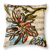French Magnolia Minuet Throw Pillow