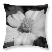 French Marigold Named Disco Yellow Throw Pillow