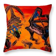 French Music Throw Pillow