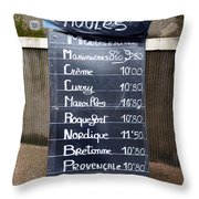 French Mussels Throw Pillow