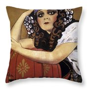 French Poster: Salome, 1918 Throw Pillow