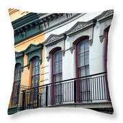 French Quarter Balconies Throw Pillow