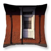 French Quarter Door And Shadows New Orleans Throw Pillow