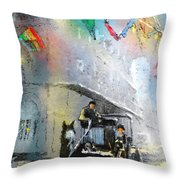 French Quarter In New Orleans Bis Throw Pillow
