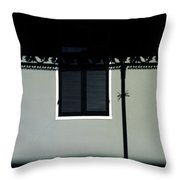 French Quarter Shutter And Shadows Throw Pillow