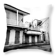 French Quarter Tavern Architecture New Orleans Conte Crayon Digital Art Throw Pillow