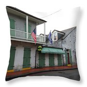 French Quarter Tavern Architecture New Orleans Throw Pillow