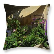 French Restaurant Throw Pillow