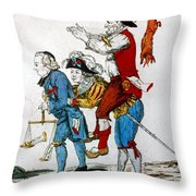 French Revolution, 1792 Throw Pillow