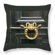 French Snake Doorknocker Throw Pillow